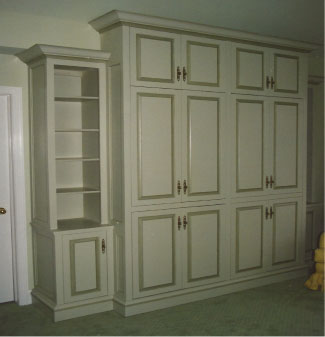 custom cabinets and shelves