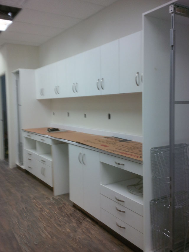 custom office cabinets and shelves